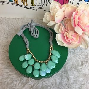 Jewelry - Minty cotton and beaded statement necklace